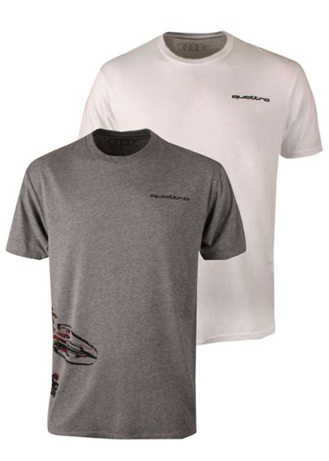 T Shirt Audi grey quattro gecko wraparound t shirt by audi choice gear