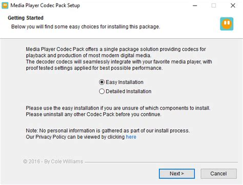 divx codec windows media player 10 media player codec pack 4 4 0 1007 download freeware