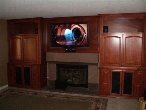 tv  fireplace woodwork creations
