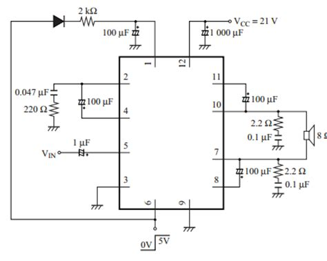 An7163 Btl 17w Audio Power Lifier lifiercircuits