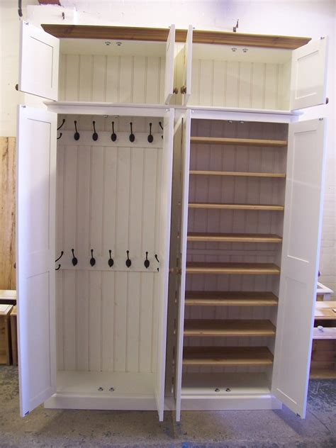 coat and shoe storage 4 door coat shoe storage cupboard with top