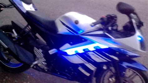 Lu Led Motor Yamaha R15 yamaha r15 leds and rear light flasher