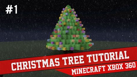 christmas tree tutorial minecraft xbox 360 1 youtube