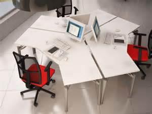 bureau bench ross 3 personnes design