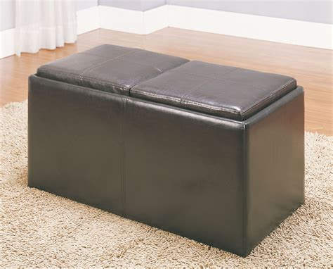 storage bench with tray claire storage bench with 2 ottomans trays from