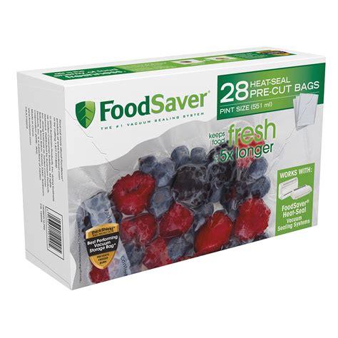 foodsaver 174 pint size vacuum seal bags at foodsaver