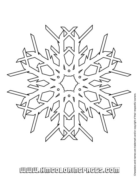 snowflake patterns coloring pages snowflake pattern to color h m coloring pages