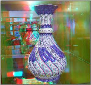 3d photos vase anaglyph stereo 3d picture you need red cyan glasses