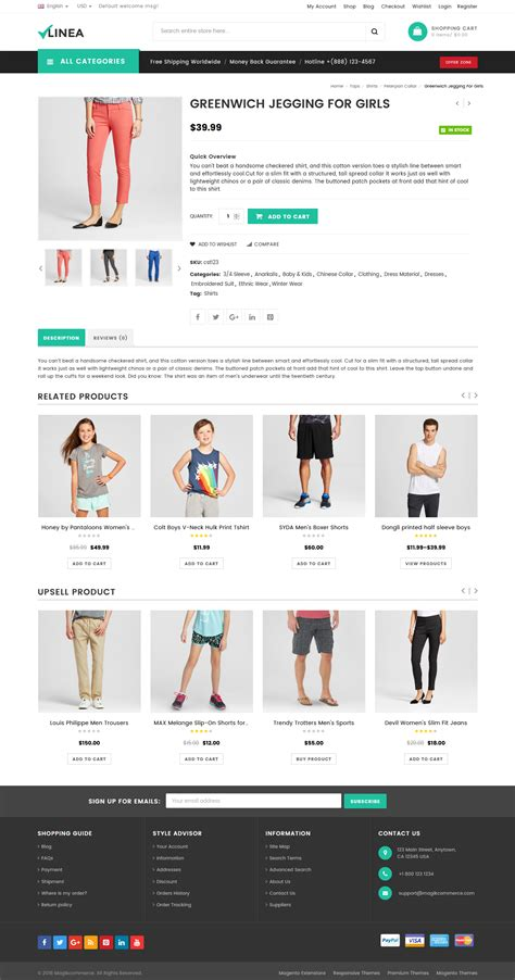 clothing themes wordpress linea clothing store woocommerce wordpress theme by
