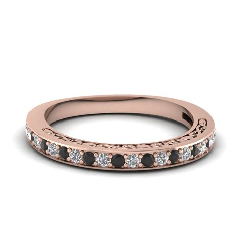Womens Wedding Bands With Black Diamonds   Fascinating