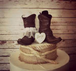country style cake toppers country western wedding cowboy boots wedding by