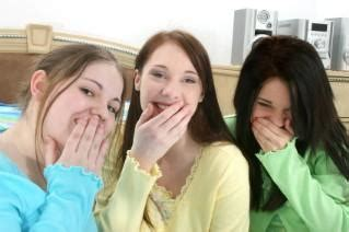 group teen girls laughing slumber party pranks lovetoknow