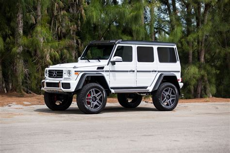 lifted mercedes white mercedes g class gets a lift kit and other custom