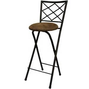 x back folding 30 quot barstool bronze with beige