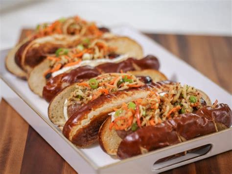 bratwurst definition grilled bratwurst with brie and spiral apple slaw recipe