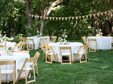 backyard wedding centerpiece ideas simple elegant backyard wedding ideas on a budget c