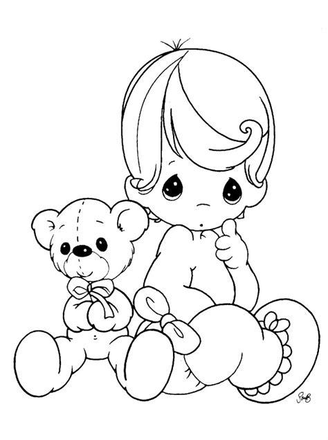 baby color free printable baby coloring pages for