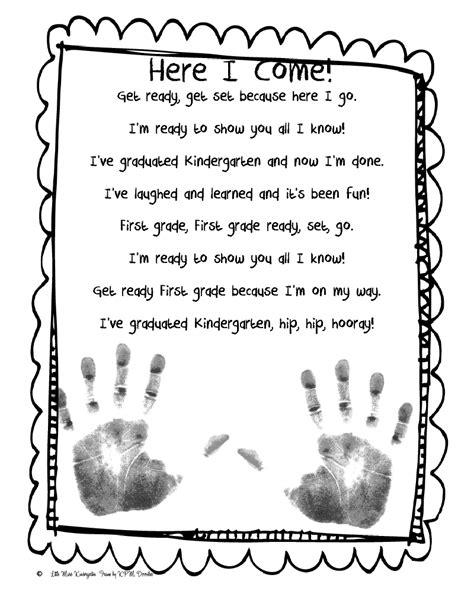 kindergarten poems simply centers end of the year kindergarten poem