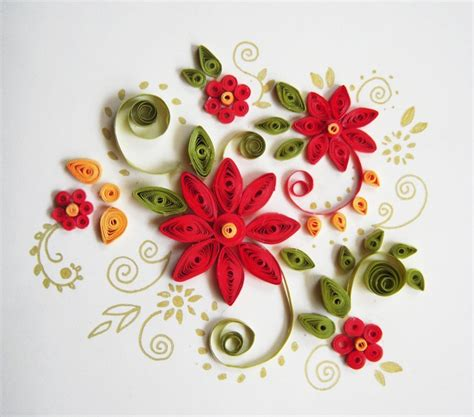 flower pattern for quilling christmas quilling patterns google search paper