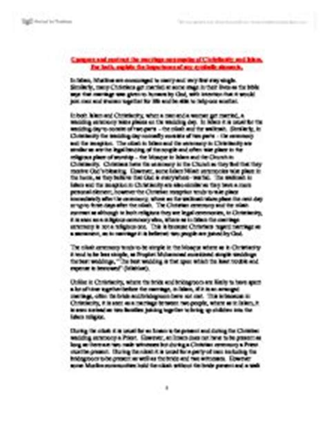 Christianity Vs Islam Essay by Compare Contrast Christianity Islam Essay Writefiction581 Web Fc2