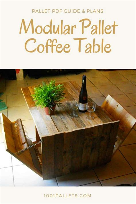 diy  tutorial modular pallet coffee table
