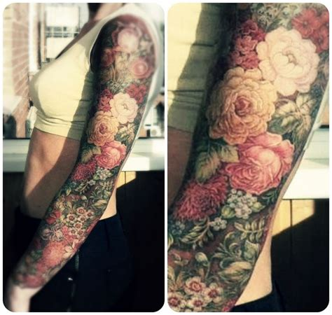 flower garden tattoos realistic flower sleeve ink beautiful sleeve and flower sleeve tattoos