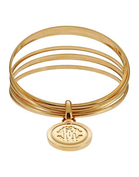 Roberto Cavalli Gold Bracelet Pochette by Lyst Roberto Cavalli Bracelet In Metallic