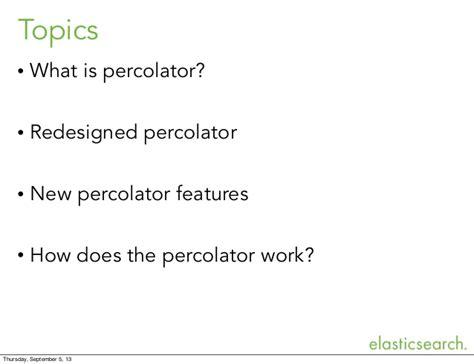Distributed percolator in elasticsearch