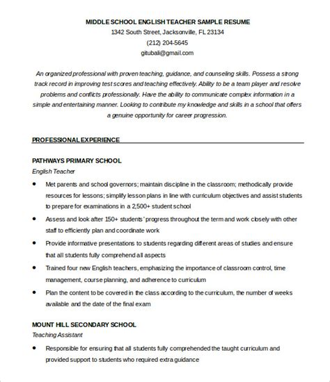 cv templates for teachers free how to make a good teacher resume template