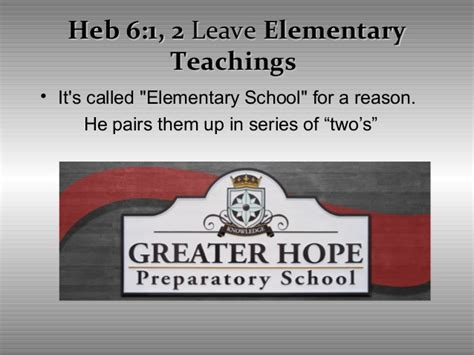 hebrews 6 1 3 leave these elementary teachings hebrews chapter 5 11 6 10