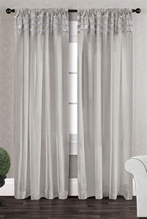 bling curtain rods bling striped semi sheer curtain panels of 2 and textiles