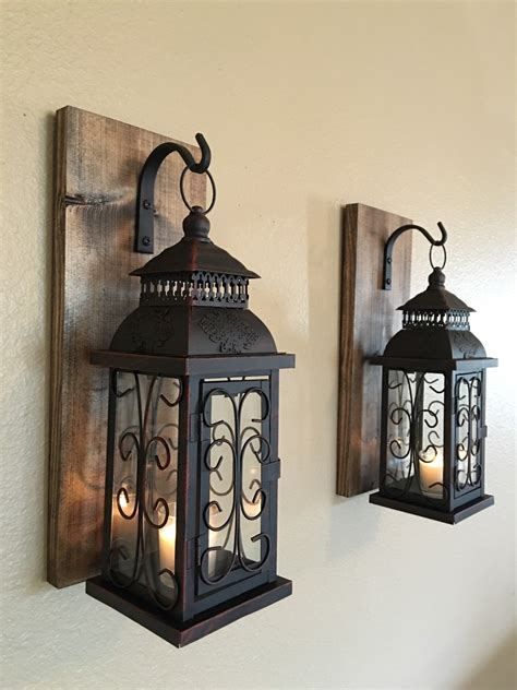 decorative home lantern pair wall decor wall sconces bathroom decor home