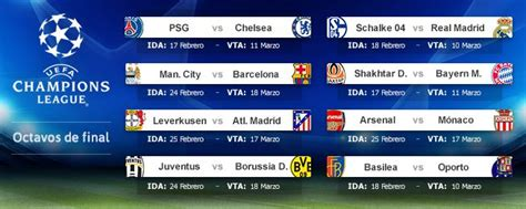 Calendario De La Chion League Schalke Madrid City Barcelona Y Bayer Leverkusen Atl 233 Tico