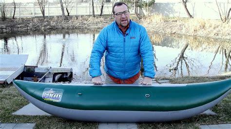 outcast inflatable pontoon boats outcast pontoon boat proper inflation youtube