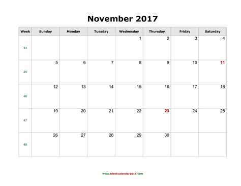 printable calendar october november december 2017 blank calendar for november 2017
