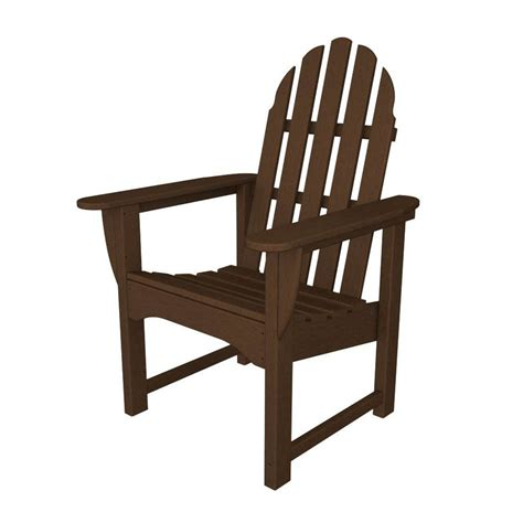 Shop Polywood Classic Adirondack Mahogany Plastic Patio Plastic Patio Chairs Lowes