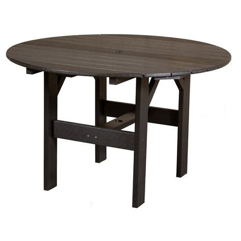 46 dining table cottage recycled plastic 46 in patio