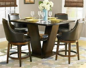 Pedestal Dining Room Table Sets by Dining Room Black Counter Height Dining Room Set 5