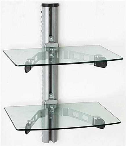 glass wall shelves wall mounted glass shelves a v component stand