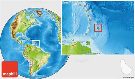 where is barbados on world map physical location map of barbados