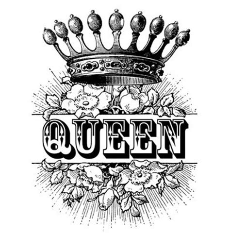 tattoo font queen crown royalty roses antique by