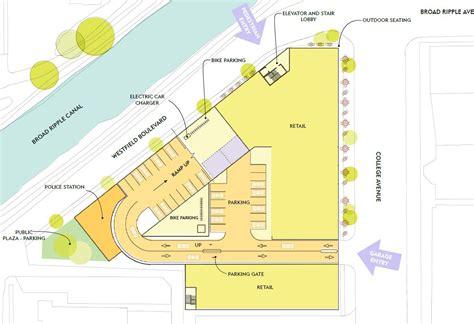 broad ripple village parking garage design changes urban