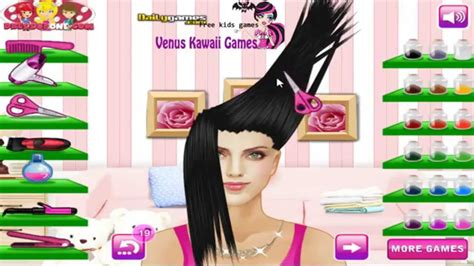 barbie hair cutting game barbie makeover game youtube glam hair salon online flash game games for girls youtube