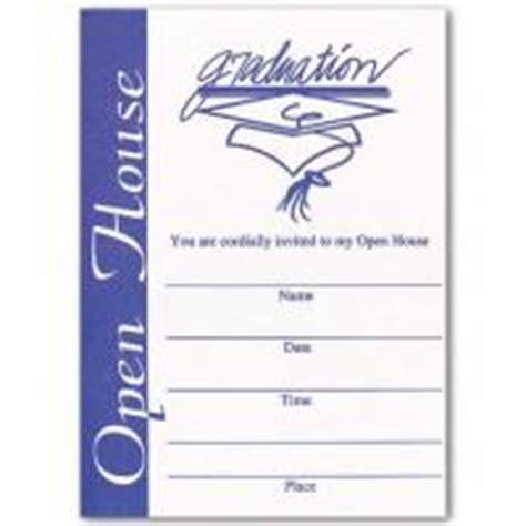 printable graduation open house invitations blue open house invitation