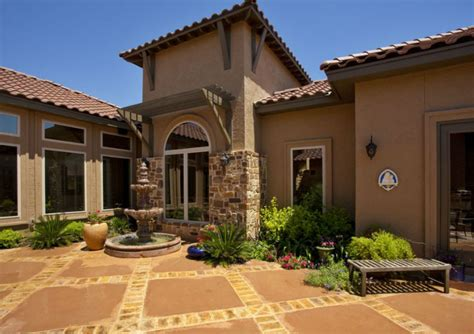 stucco houses house plans and mediterranean houses on mediterranean style stucco homes blue collar stucco