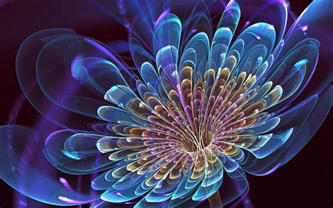 3d Flower High Resolution Wallpapers Free Download Fine