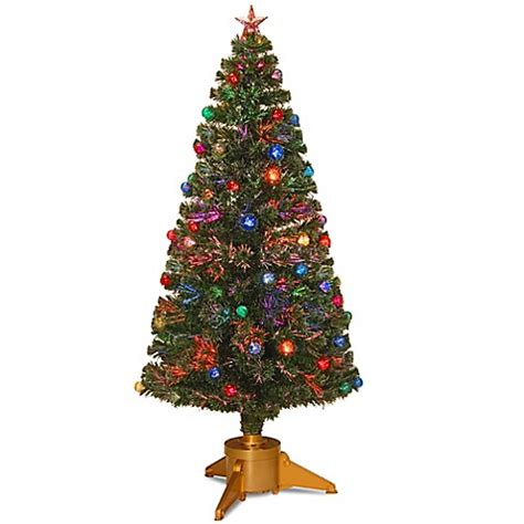 buy national tree 6 foot fiber optic fireworks tree with ornaments from bed bath