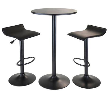 6 bar table 6 contemporary black pub table sets furniture