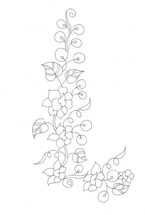 kurtis pattern vector semi formal neck patch sketches embdesigntube