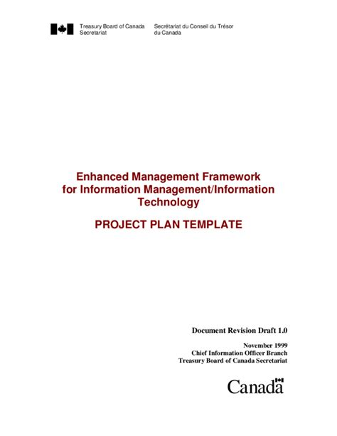 Plan Template Bc project plan template canada free